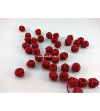 COTTON THREADED BEADS MAROON ONE PIECE
